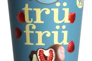 MILK CHOCOLATE NATURE'S RASPBERRIES FROZEN FRESH IN WHITE & MILK CHOCOLATE