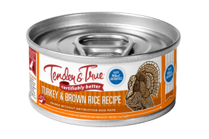 TURKEY & BROWN RICE RECIPE PATE DOG FOOD