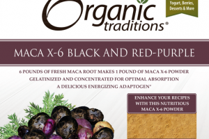 MACA X-6 BLACK AND RED-PURPLE DIETARY SUPPLEMENT POWDER