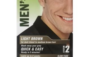 MEN'S OWN LIGHT BROWN FOR DARK BLOND TO MEDIUM BROWN HAIR COLOR