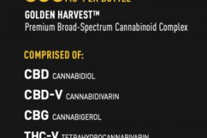 CBD+ ADAPT 600MG GOLDEN HARVEST PREMIUM BROAD-SPECTRUM CANNABINOID COMPLEX DIETARY SUPPLEMENT VEGETARIAN CAPSULES