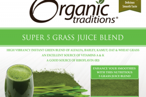 SUPER 5 GRASS JUICE BLEND OF ALFALFA, BARLEY, KAMUT, OAT & WHEAT GRASS