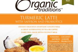 TURMERIC LATTE WITH SAFFRON AND PROBIOTICS