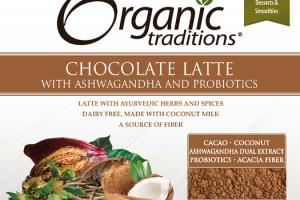 CHOCOLATE LATTE WITH ASHWAGANDHA AND PROBIOTICS