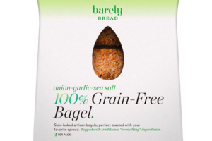 ONION-GARLIC-SEA SALT 100% GRAIN-FREE BAGEL