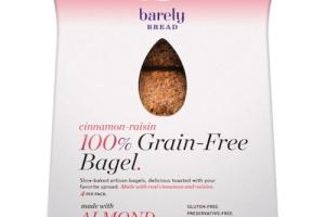 CINNAMON-RAISIN 100% GRAIN-FREE BAGEL