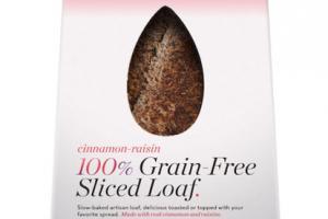 CINNAMON-RAISIN 100% GRAIN-FREE SLICED LOAF