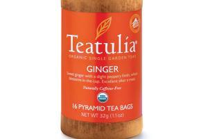 GINGER ORGANIC SINGLE GARDEN NATURALLY CAFFEINE-FREE PYRAMID TEA BAGS