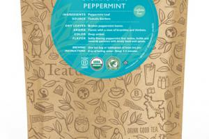PEPPERMINT CAFFEINE FREE ORGANIC TEAS UNWRAPPED PREMIUM PYRAMIDS