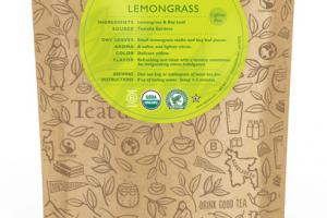 LEMONGRASS CAFFEINE FREE ORGANIC TEAS UNWRAPPED PREMIUM PYRAMIDS
