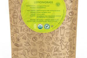 LEMONGRASS ORGANIC TEA UNWRAPPED PREMIUM PYRAMIDS
