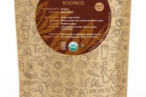 ROOIBOS ORGANIC TEA UNWRAPPED PREMIUM PYRAMIDS