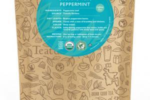 PEPPERMINT ORGANIC TEA UNWRAPPED PREMIUM PYRAMIDS