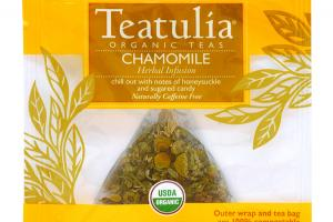 CHAMOMILE ORGANIC HERBAL INFUSION PYRAMID TEA BAGS