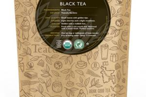 BLACK ORGANIC TEA UNWRAPPED PREMIUM PYRAMIDS