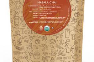 MASALA CHAI ORGANIC TEA UNWRAPPED PREMIUM PYRAMIDS