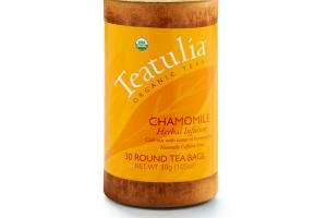 CHAMOMILE ORGANIC HERBAL INFUSION ROUND TEA BAGS