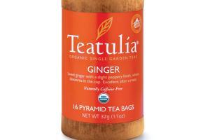 GINGER ORGANIC PYRAMID TEA BAGS