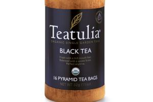 BLACK ORGANIC PYRAMID TEA BAGS