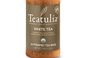 WHITE ORGANIC PYRAMID TEA BAGS