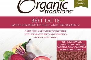 BEET LATTE WITH FERMENTED BEET AND PROBIOTICS