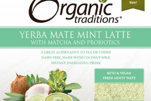 YERBA MATE MINT LATTE WITH MATCHA AND PROBIOTICS