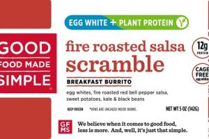 FIRE ROASTED SALSA SCRAMBLE BREAKFAST BURRITO