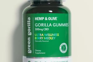 HEMP & OLIVE 300MG CBD DIETARY SUPPLEMENT GORILLA GUMMIES, ULTRA WELLNESS BERRY MEDLEY