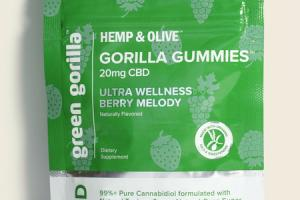 GORILLA GUMMIES 20MG CBD DIETARY SUPPLEMENT, ULTRA WELLNESS BERRY MELODY