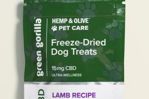 LAMB RECIPE HEMP & OLIVE PET CARE FREEZE-DRIED DOG TREATS