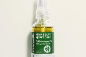 CBD INFUSED 1500MG CANNABIDIOL OIL HEMP & OLIVE PET CARE DIETARY SUPPLEMENT