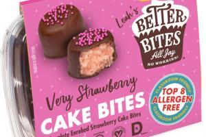 CHOCOLATE ENROBED VERY STRAWBERRY CAKE BITES