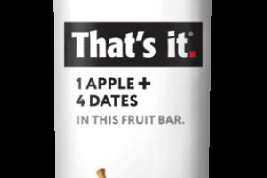 1 APPLE + 4 DATES FRUIT BAR