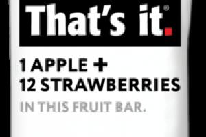 1 APPLE + 12 STRAWBERRIES FRUIT BAR