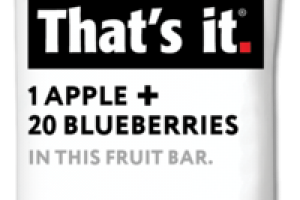 1 APPLE + 20 BLUEBERRIES FRUIT BAR
