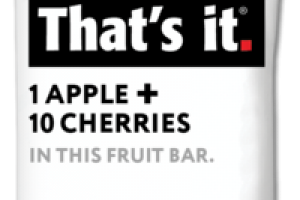 APPLE + CHERRIES FRUIT BAR