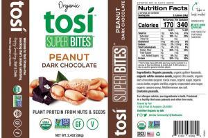 PEANUT DARK CHOCOLATE ORGANIC SUPER BITES
