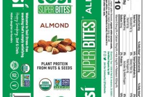 ALMOND ORGANIC PLANT PROTEIN FROM NUTS & SEEDS