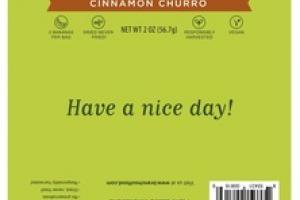 CINNAMON CHURRO PUFFED AND CHEWY BANANA BITES