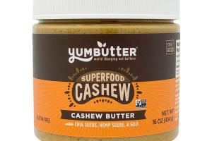 CASHEW BUTTER WITH CHIA SEEDS, HEMP SEEDS, & GOJI SUPERFOOD