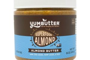 SUPERFOOD ALMOND BUTTER WITH CHIA SEEDS, HEMP SEEDS, & GOJI