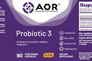 ULTRA PROBIOTIC 3 DIETARY SUPPLEMENT VEGETARIAN CAPSULES