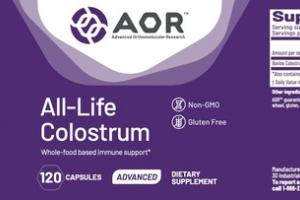 ALL-LIFE COLOSTRUM ADVANCED WHOLE-FOOD BASED IMMUNE SUPPORT* DIETARY SUPPLEMENT CAPSULES