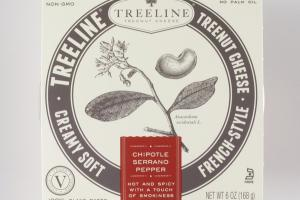 CHIPOTLE SERRANO PEPPER FRENCH-STYLE CREAMY SOFT TREENUT CHEESE