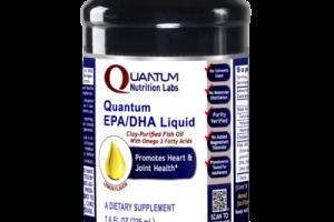 QUANTUM EPA/DHA PROMOTES HEART & JOINT HEALTH DIETARY SUPPLEMENT LIQUID, LEMON