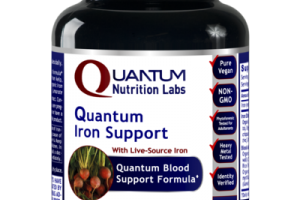 QUANTUM WITH LIVE-SOURCE IRON BLOOD SUPPORT FORMULA DIETARY SUPPLEMENT VEGETARIAN CAPSULES
