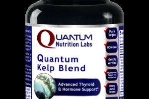 QUANTUM KELP BLEND ADVANCED THYROID & HORMONE SUPPORT A DIETARY SUPPLEMENT VEGETARIAN CAPSULES