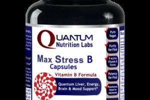 MAX STRESS B VITAMIN B FORMULA QUANTUM LIVER, ENERGY, BRAIN & MOOD SUPPORT DIETARY SUPPLEMENT VEGETARIAN CAPSULES