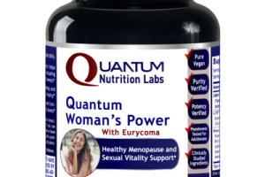 QUANTUM WOMAN'S POWER WITH EURYCOMA HEALTHY MENOPAUSE AND SEXUAL VITALITY SUPPORT DIETARY SUPPLEMENT PLANT-SOURCE CAPSULES