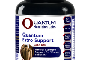 QUANTUM ESTROGEN SUPPORT WITH DIM FOR WOMEN AND MEN DIETARY SUPPLEMENT VEGETARIAN CAPSULES, CINNAMON